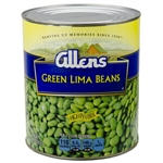 Medium Canned Green Lima Beans - 109 oz.
