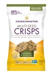 Crunchmaster Single Serve Multi-Seed Crisps Rosemary and Olive Oil Case - 1.25 Oz.