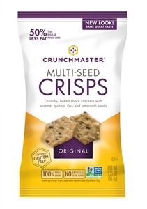 Crunchmaster Single Serve Multi-Grain Crisps Original Case - 1.25 Oz.