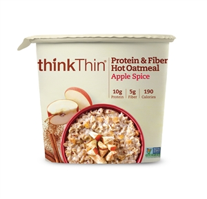 ThinkThin Apple Spice Oatmeal bowls - 1.76 Oz.