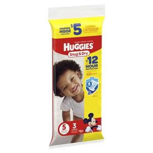Huggies Snug And Dry Diapers Size 5 Trial