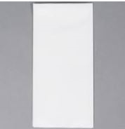Airlaid One Sixth Fold Special Print Paper Guest White Towel - 12 in. x 17 in.