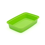 Rectangular Green Container with Clear Lid - 16 Oz.