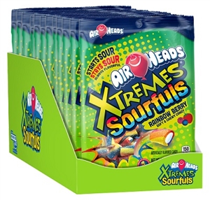 Airheads Xtremes Sourfuls Peg Bag Display Tray - 6 Oz.