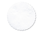 Paper White Round Rose Linen Paper Doily - 5 in.