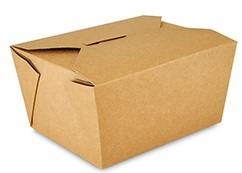 1 Kraft Folded Takeout Box