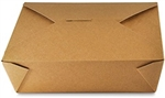 3 Kraft Folded Take Out Box - 7.75 in. x 5.5 in. x 2.5 in.