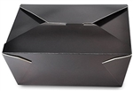 4 Black Folded Takeout Box 7.75 in. x 5.5 in. x 3.5 in.