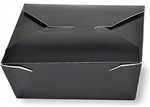 8 Black Folded Take Out Box - 6 in. x 4.75 in. x 2.5 in.
