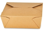 8 Kraft Folded Take Out Box - 6 in. x 4.75 in. x 2.5 in.