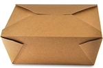 4 Kraft Folded Takeout Box - 7.5 in. x 5.5 in. x 3.5 in.