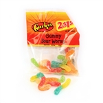 Gummy Sour Worms - 2.25 Oz.