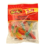 Gummy Sour Worms - 2 Oz.