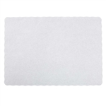 Stirling White Scalloped Placemat - 9.5 in. x 13.5 in.