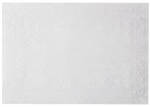 Decorative White Straight Edge Placemats - 10 in. x 14 in.