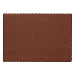 Burgundy Solid Color Placemat - 9.25 in. x 13.25 in.
