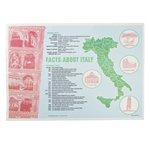 Facts About Italy Placemat Straight Edge - 10 in. x 14 in.
