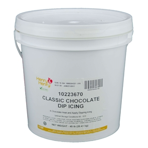 Chocolate Classic Dipping Icing - 45 Lb.