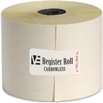 Register Roll 2.25 in. Carbonless White 2 Ply - 100 Ft.