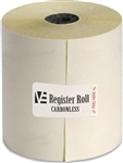 Register Roll 3 in. Carbonless White 2 Ply - 100 Ft.