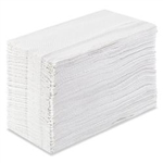 Tall Folded Napkin 1 Ply White - 7 in. x 14 in.