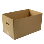 0443 Corrugated Carry Out Box With Handle Kraft - 22 in. x 13 in. x 12.5 in.