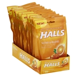 Halls Cough Drops Orange