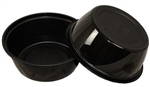Round Black Containers - 32 Oz.