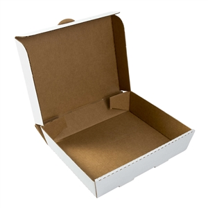 0254 Corrugated Catering Box Half Pan White - 13 in. x 10.88 in. x 3 in.