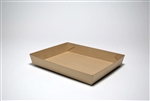 Corrugated F-Flute Food Tray Plain Kraft