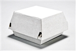 Small Square Corrugated F-Flute Clamshell Box Plain White