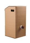 Plain Kraft 3 Gal. Catering Beverage on the Move Bulk Beverage Box