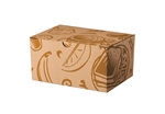 LBP Catalog Kraft Corrugated Lunch Box with Art Deco Print