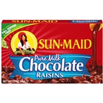 Sun-Maid Milk Chocolate Raisins Conbox - 3.5 Oz.