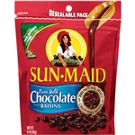 Sun-Maid Milk Chocolate Raisins Reseal Standup Bag - 9 Oz.