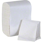 1-Ply Interfold Express White Napkins - 8.5 in. x 13 in.