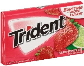 Trident Gum Island Berry Lime Sugar Free 14 Count