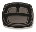 Compartment Forum Plate Black - 9 in.