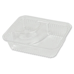 Plastic Trays 2 Compartment