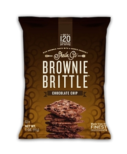 8 Trays Multi-Pack Box Chocolate Chip Brownie Brittle - 1 Oz.