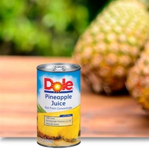 Canned 100 Percentage Pineapple Juice Pull Top Can - 6 Oz.
