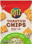 Nabisco Ritz Toasted Chips Sour Cream And Onion - 8.1 Oz.