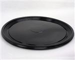 Thermoformed Round Black Pet Serving Tray - 18 in.
