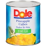 Pineapple Cubes Light Syrup - 106 Oz.