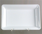 Polystyrene Rectangle Serving Tray White - 18 in. x 12 in.