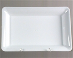 Rectangle Polystyrene Serving Tray White - 8 in. x 10 in.