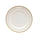 Ivory With Gold Rings Polystyrene Plate - 7.5 in.