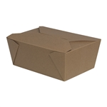 Brand Take Out Brown Container - 96 oz.