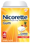 Nicorette Gum Fruit Chill 4mg Case