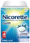 Nicorette Gum White Ice Mint 4mg Case